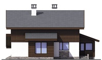 Проект кирпичного дома 72-86 фасад