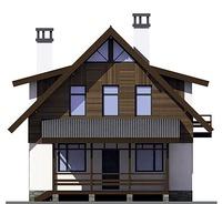 Проект кирпичного дома 72-89 фасад