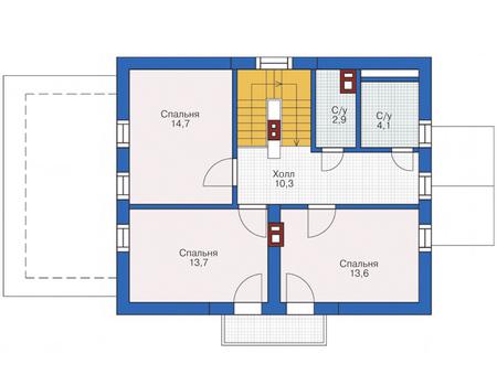 Проект кирпичного дома 72-89 план