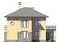 Проект кирпичного дома 72-90 фасад