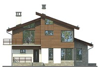 Проект кирпичного дома 72-91 фасад