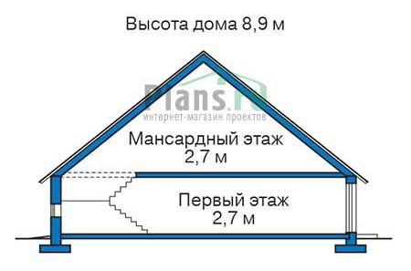 Проект кирпичного дома 72-91 план