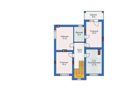 Проект кирпичного дома 72-92 план