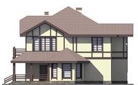 Проект кирпичного дома 72-93 фасад