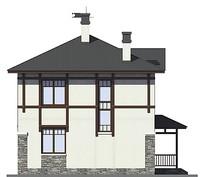 Проект кирпичного дома 72-94 фасад