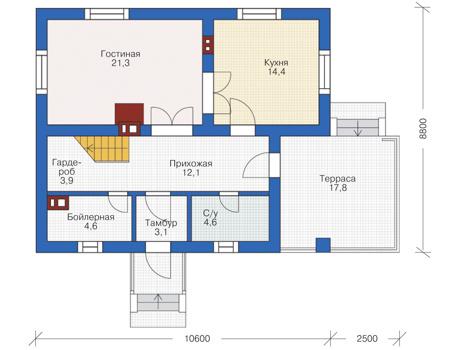 Проект кирпичного дома 72-94 план