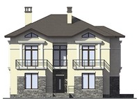 Проект кирпичного дома 72-95 фасад
