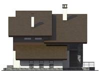Проект кирпичного дома 72-96 фасад