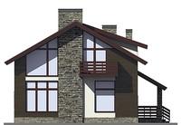 Проект кирпичного дома 72-97 фасад
