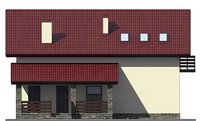 Проект кирпичного дома 72-98 фасад