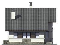 Проект кирпичного дома 73-00 фасад
