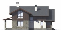 Проект кирпичного дома 73-01 фасад