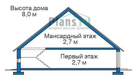 Проект кирпичного дома 73-01 план