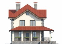 Проект кирпичного дома 73-02 фасад