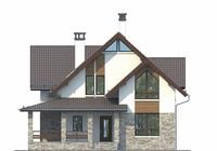 Проект кирпичного дома 73-03 фасад