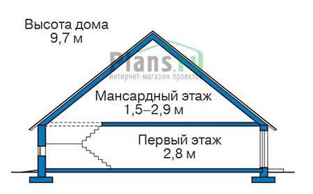 Проект кирпичного дома 73-03 план