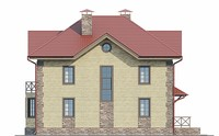 Проект кирпичного дома 73-04 фасад