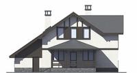 Проект кирпичного дома 73-05 фасад