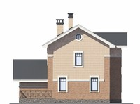 Проект кирпичного дома 73-06 фасад