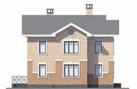 Проект кирпичного дома 73-07 фасад