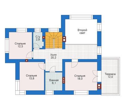 Проект кирпичного дома 73-08 план