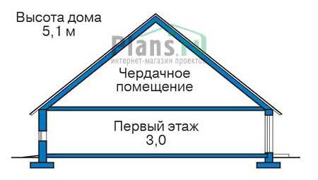 Проект кирпичного дома 73-13 план