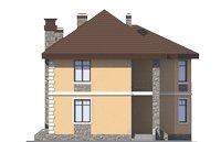 Проект кирпичного дома 73-15 фасад