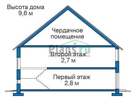 Проект кирпичного дома 73-15 план