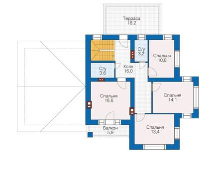 Проект кирпичного дома 73-17 план