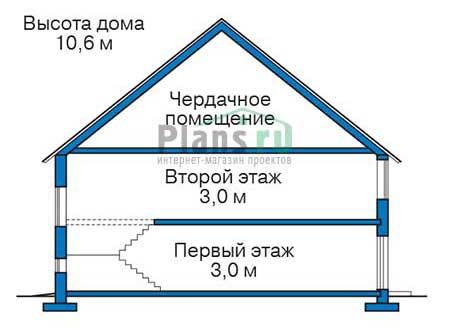 Проект кирпичного дома 73-18 план