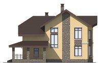 Проект кирпичного дома 73-19 фасад