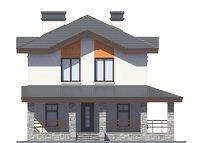 Проект кирпичного дома 73-20 фасад