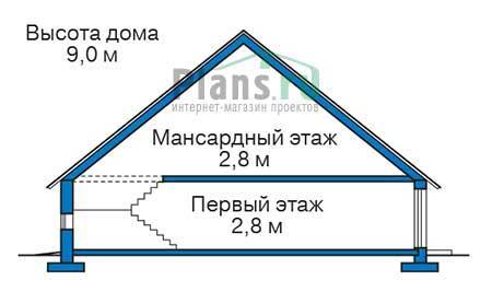 Проект кирпичного дома 73-20 план