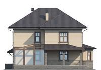 Проект кирпичного дома 73-25 фасад