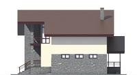 Проект кирпичного дома 73-26 фасад