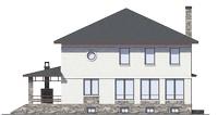 Проект кирпичного дома 73-27 фасад