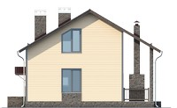 Проект кирпичного дома 73-28 фасад