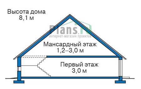 Проект кирпичного дома 73-28 план