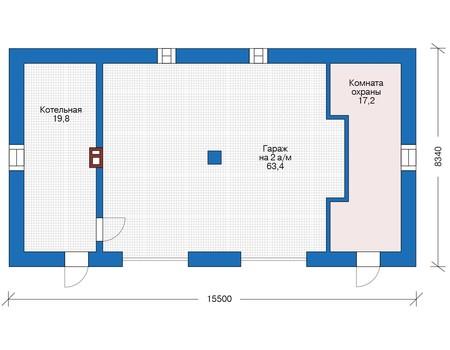 Проект кирпичного дома 73-30 план