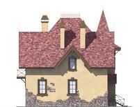 Проект кирпичного дома 73-32 фасад