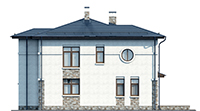 Проект кирпичного дома 73-35 фасад