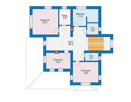 Проект кирпичного дома 73-35 план