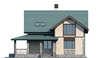 Проект кирпичного дома 73-36 фасад