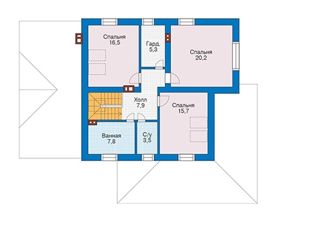 Проект кирпичного дома 73-36 план