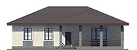 Проект кирпичного дома 73-37 фасад