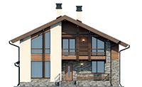 Проект кирпичного дома 73-38 фасад
