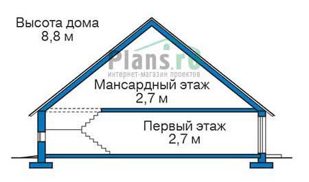 Проект кирпичного дома 73-38 план