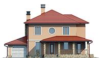 Проект кирпичного дома 73-39 фасад