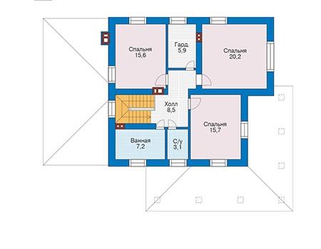 Проект кирпичного дома 73-39 план