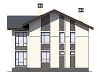Проект кирпичного дома 73-40 фасад